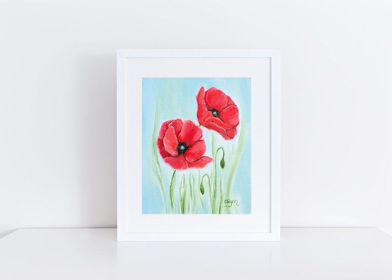 photo relating to Poppy Printable called Poppy Printable Artwork Print \