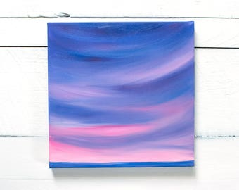 """Ocean Painting """"Before We Say Goodbye"""" 12 x 12 inches 