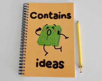Contains Amazing Ideas notebook