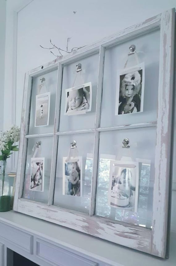 Vintage Window Photo Frame Window Picture Frame Farmhouse Etsy