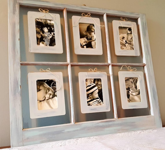 Vintage Window Picture Frame Coastal Photo Frame Farmhouse Etsy