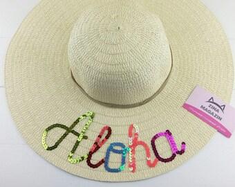 Wifey hat floppy sun hat Wedding Gift bachelorette gift  wide brim hat women beach hat summer hat  girls floppy hat  BRIDE Floppy Hat