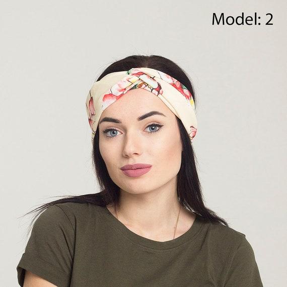 twist headband women summer headband flower headwrap top knot  a8032ce514f