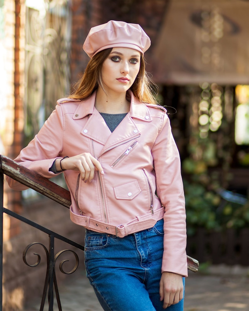 50593424969e6 Beret hat leather for women french beret spring beret