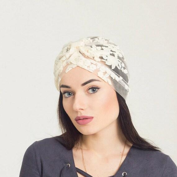 Turban headband women Lace turban hat. African head wraps for  bdd4d00e357