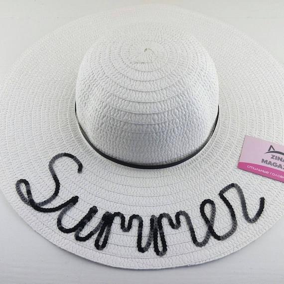 White floppy hat wifey hat BRIDE Floppy Hat Wedding Gift  bdfcab727ca