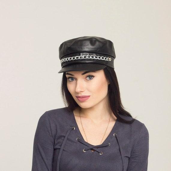 90a6569ef56 Sun cap women leather summer hats women visor sun hat womens