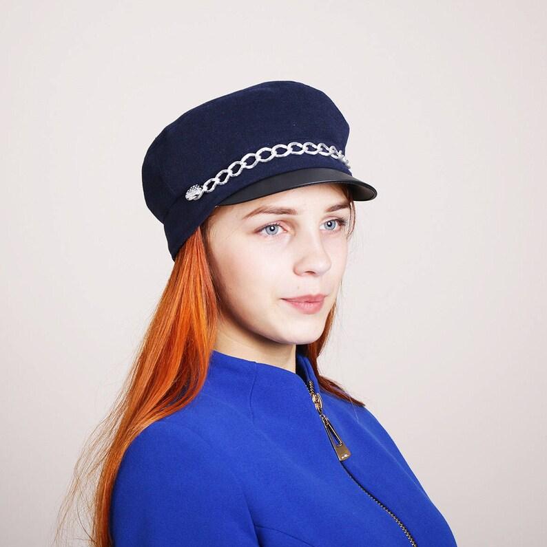 Blue newsboy cap cabbie hat women cabby hat captains caps  c628798829
