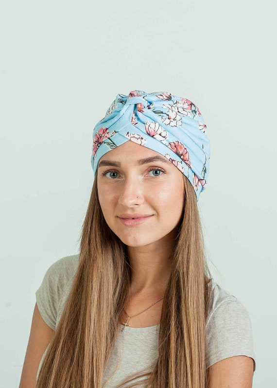 Womens 100/% Cotton Turban Head Wrap tan