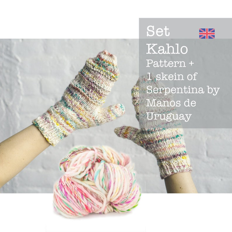 2cec1015ebb3e1 Strickset Kahlo Handschuhe Anleitung Englisch und 1 | Etsy