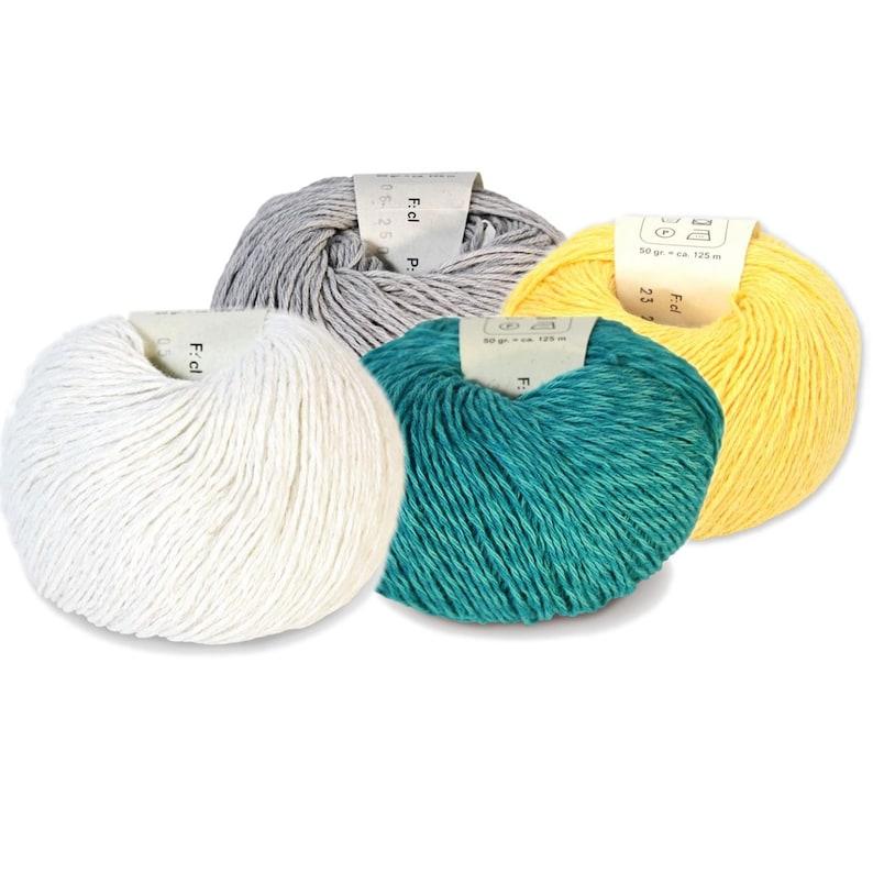 Allino  Belgian linen and cotton  50g  Knitting yarn image 0
