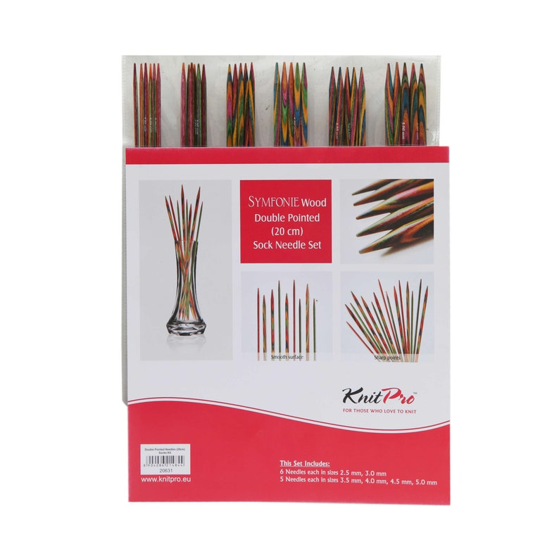 Knit Pro Symfonie wooden double pointed needle set  20 cm image 0