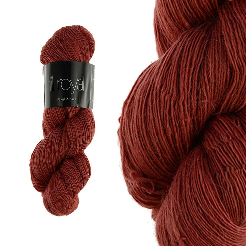 Fil Royal  100g  100% baby alpaca   Lace yarn for lace image 0