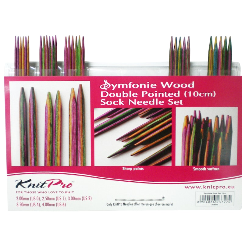 Knit Pro Symfonie wooden double pointed needle set  10 cm image 0