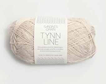 Tynn Line - Sandnes - Cotton, viscose, linen - 50g - Light fingering - Needle size 3 mm