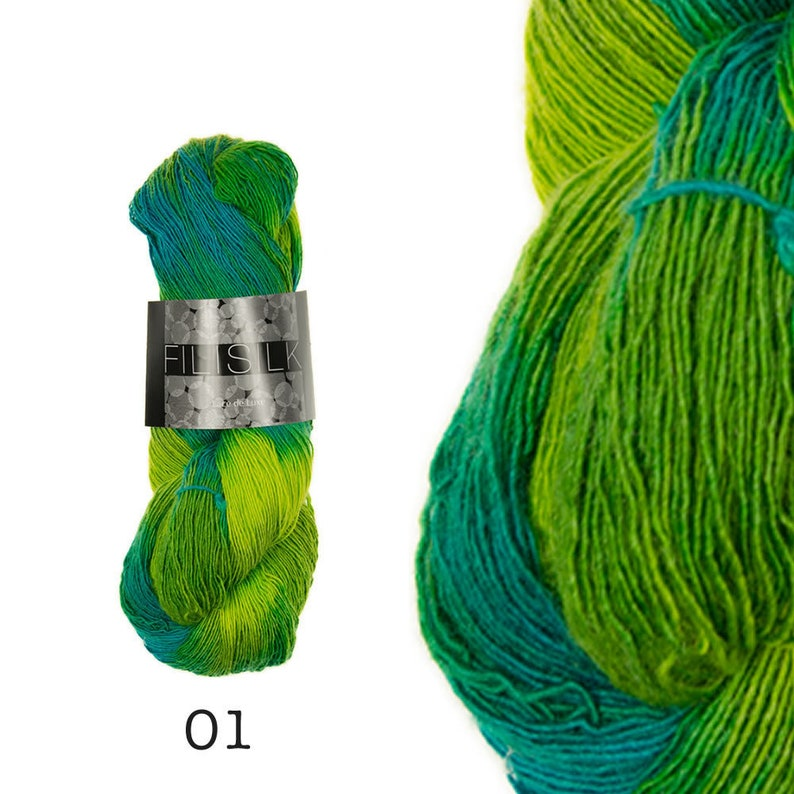 Filisilk Lace de Luxe  Hand dyed  100g  Lace Merino image 0