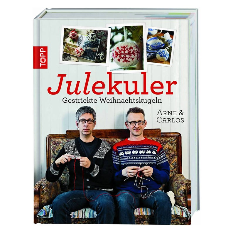 Book: Julekuler  Knitted Christmas Balls in German Arne & image 0