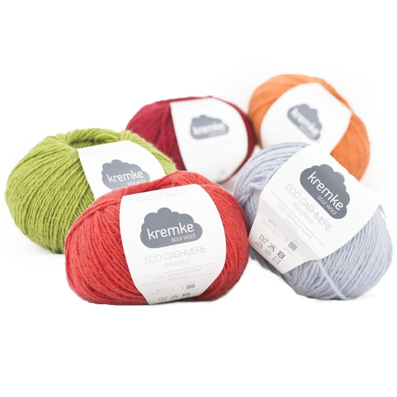 Eco Cashmere Fingering  50g ball  partly recycled cashmere  image 0