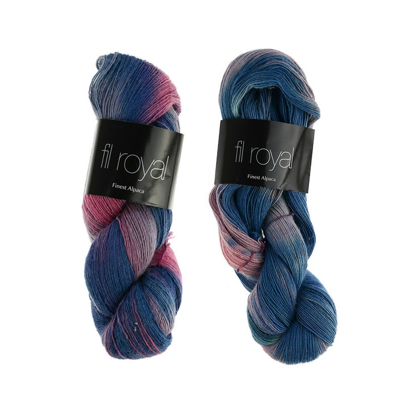 Fil Royal Hand Dyed  100g  Lace / lace yarn for lace image 0