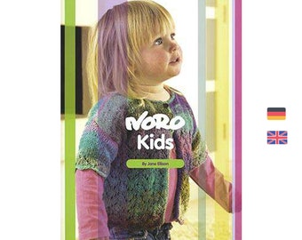 Noro for Kids by Jane Ellison - English knitting magazine with German translation - 13 Pattern for children from 1 to 10