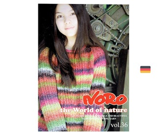 Noro Vol. - 36 the World of nature - in German translation - 9 Pattern for women - knitting garnments and accessories