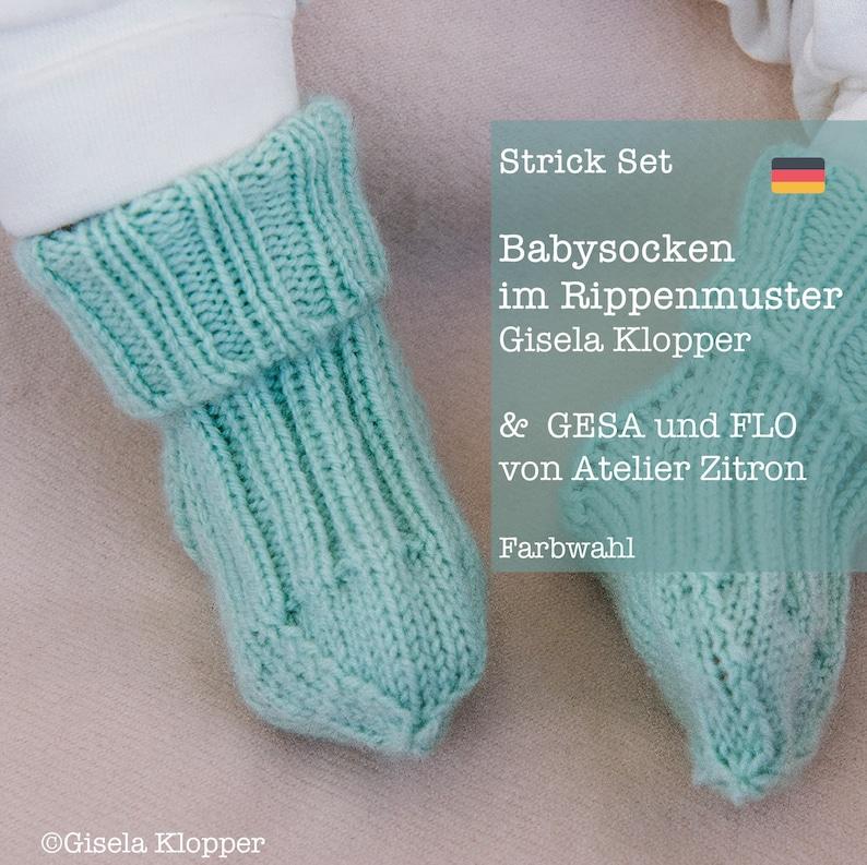 Knit Set baby socks with Rib Pattern  Gesa & Flo by Atelier image 0