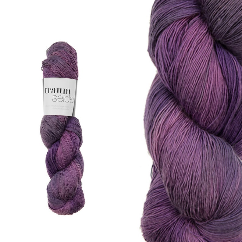 Atelier Zitron Traumseide/Dream Silk  hand-dyed  3.53 ounces image 0