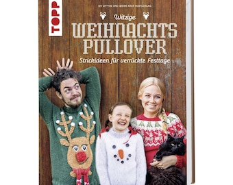 German Book: Funny Christmas Sweaters - Knitting Ideas for Crazy Holidays, Instructions, Topp Verlag - Siv Dyvik - Gift Idea