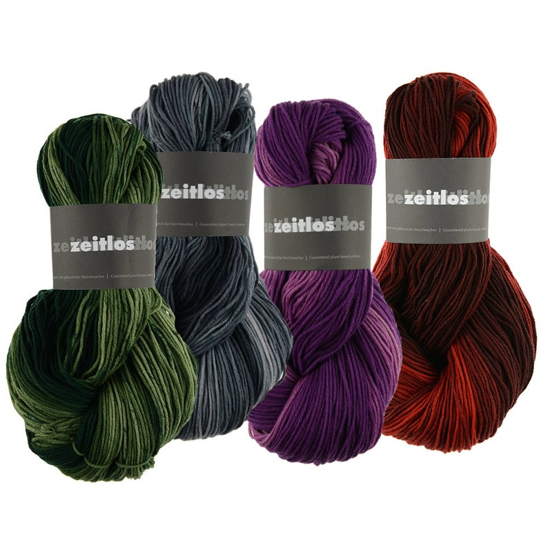 Zeitlos Color  100% Merino wool extrafine  rose oil  100g  image 0