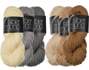 Silbermond - 100% Merino wool extrafine from Tasmania - 100g - Atelier Zitron - Ökotex 100 Class 1