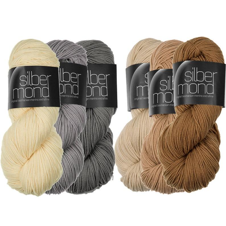 Silbermond  100% Merino wool extrafine from Tasmania  100g  image 0