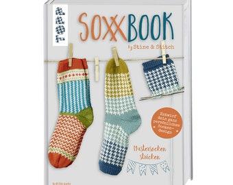 German Book: SoxxBook by Stine & Stitch - Mustersocken stricken, sock knitting, instructions, Topp Verlag