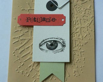 """my eye"" ""bubbly"" scrapbooking card"