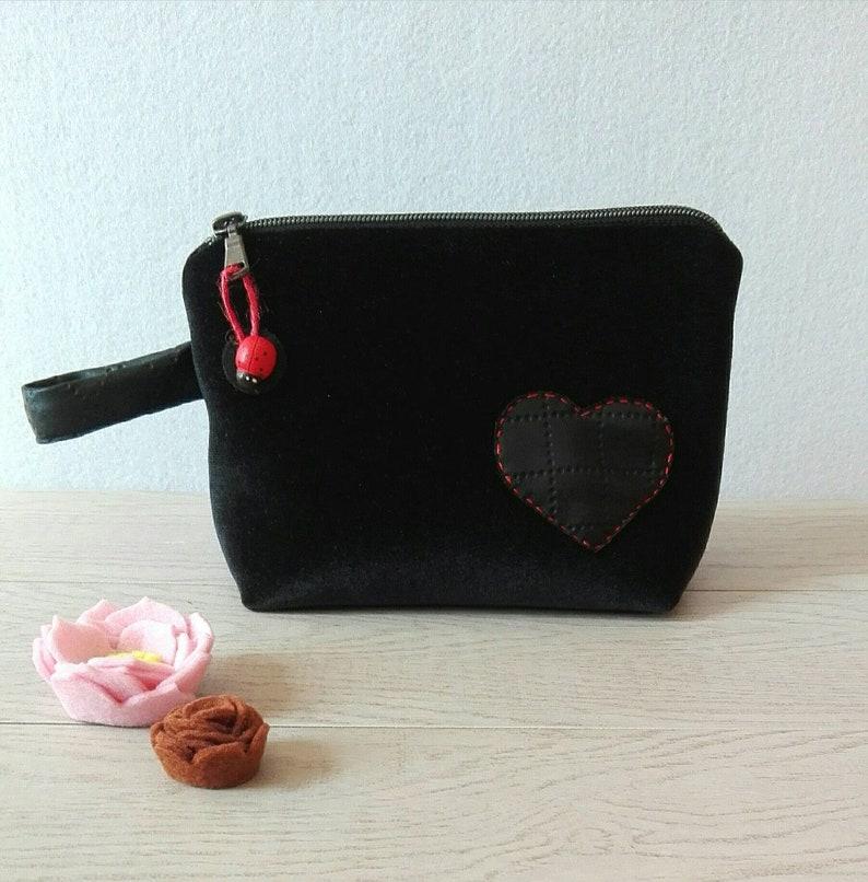 ooak Mini clutch in black velvet