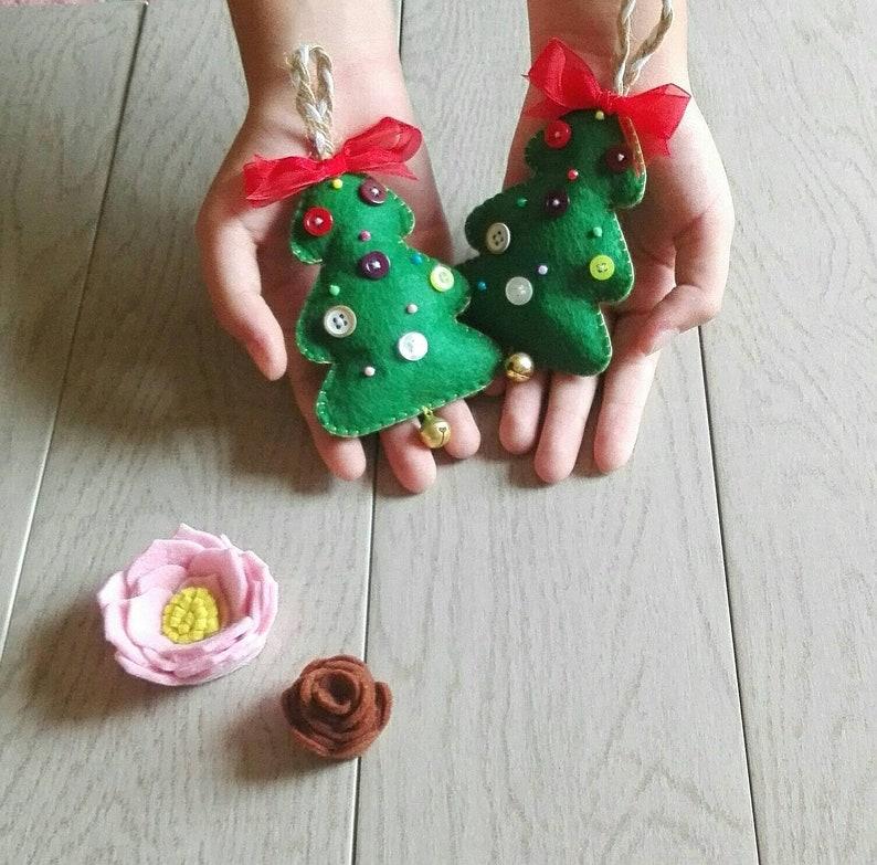 Creare Addobbi Natalizi In Feltro.Addobbi Natalizi In Feltro Albero Di Natale