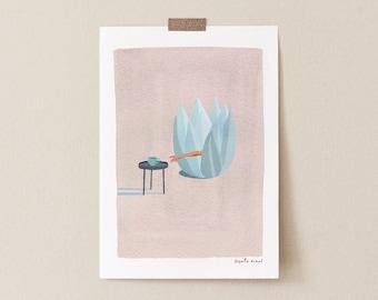 Coffee Print Kitchen Wall Art - Coffee Illustration Art Print - Coffee Drinker Gift Minimalist Coffee Poster Giclee Poster- Coffee Art