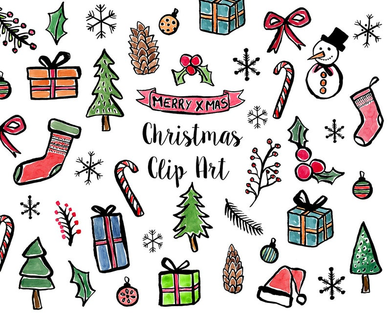 Bilder Weihnachten Clipart.Aquarell Clipart Weihnachten Clipart Aquarell Weihnachten Weihnachtsgeschenk Ornamente Clipart Frohe Weihnachten Clipart Weihnachten Clipart