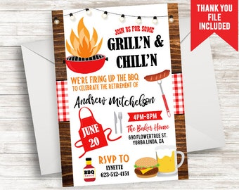 cookout invitation etsy