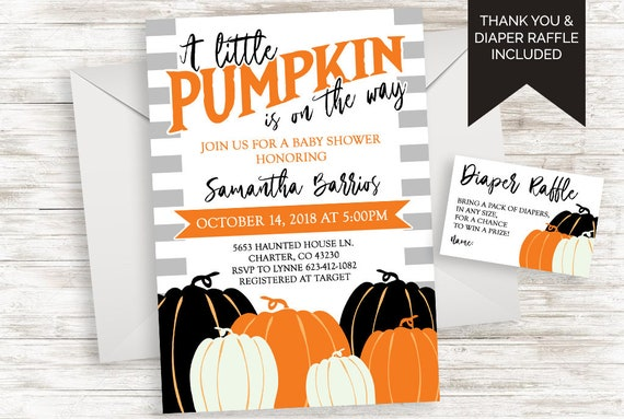 Halloween thanksgiving baby shower invitation invite digital etsy image 0 filmwisefo
