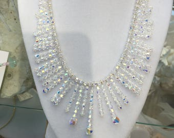 Swarovski Crystal Fringe Necklace