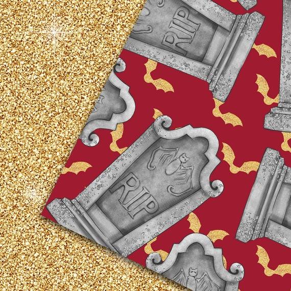 Halloween digital paper gothic clipart halloween unicorn kids halloween seamless pattern vampire  paper  gothic dolls clipart