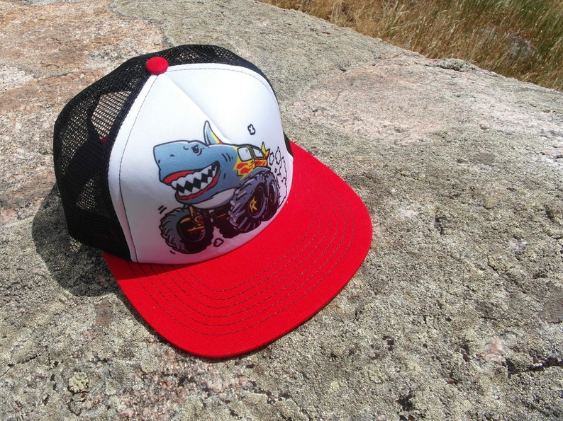 Kids Trucker Hat  Monster Truck  Boys Trucker Hat  Trucker image 0