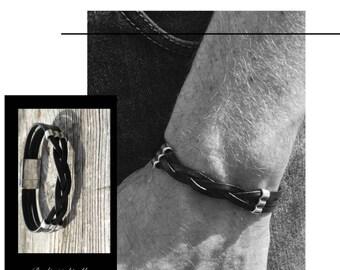 Men's 100% leather bracelet