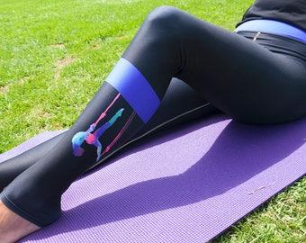 2e18dc2cc788d Original leggings/yoga pants. Made in USA/Artsy leggings/women  activewear/aerial pants/yoga gift/watercolor leggings