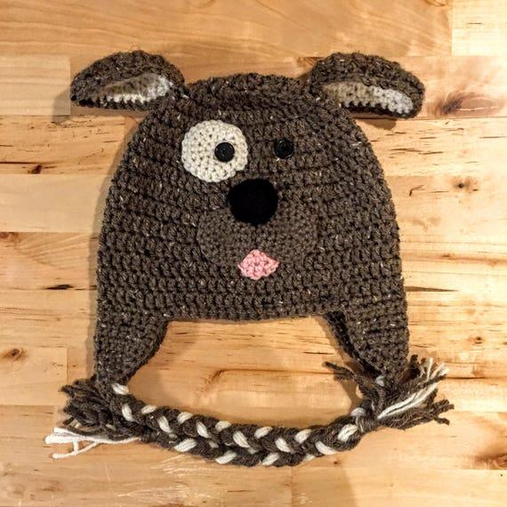 64bbf64ee1e Crochet Puppy Hat   Crochet Dog Hat   Dog Hat   Puppy Hat
