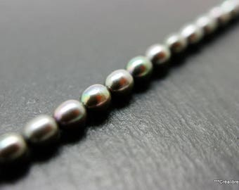 set of 10 Freshwater Pearl gray