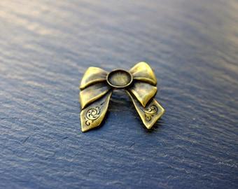 bronze art deco brooch