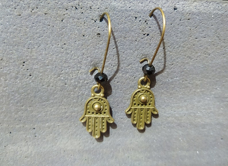 Hamsa Hand Earrings Dainty Hamsa Earrings,Good Luck Jewelry,Hamsa Earrings Protection Earrings,Tiny Earrings,Hamsa Pendant,Small hamsa