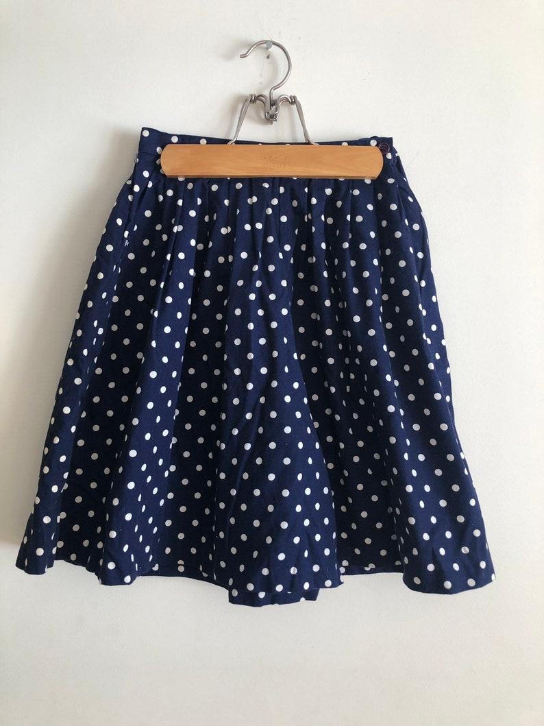 Navy polka dot skirt shorts