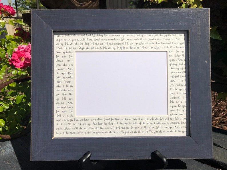 Father Daughter 8x10 Personalized Wedding Song Picture Mat Frame Handmade Wedding Gifts for Bride and Groom